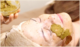 Organic herbal acne Facial image